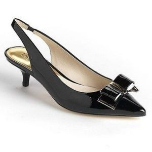 MICHAEL Michael Kors [7] black bow kitten heels